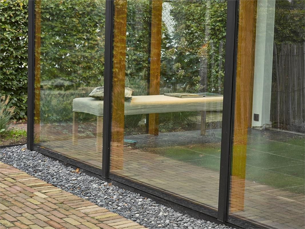 veranda aluminium hout
